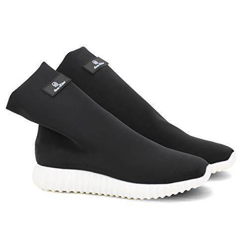QUEEN HELENA X18-31 Sneakers Elasticizzate Senza Lacci Donna Nero 37 EU