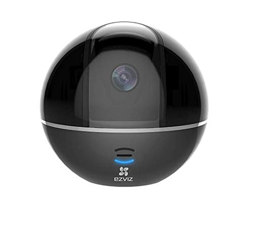 EZVIZ C6T 1080p Telecamera di Sorveglianza, 360° WiFi Videocamera Interno, Audio Bidirezionale, Maschera Intelligente della Privacy, Tracciamento del Movimento, Cloud, Compatibile con Alexa