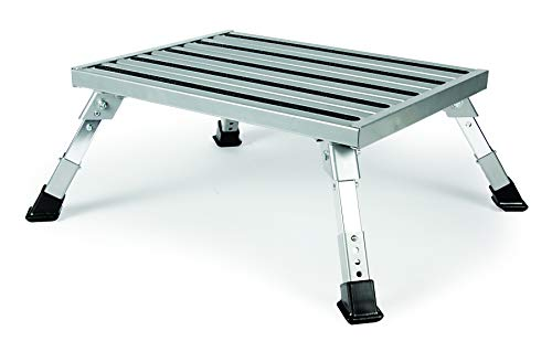 Camco Adjustable Height Aluminum Platform Step- Supports Up to...