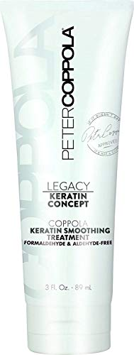 Peter Coppola Keratin Hair Treatment Straightening and Smoothing – Formaldehyde-Free Hair Repair Treatment for Damaged Hair – 3oz – Semi-Permanent Professional Keratin Treatment (Packaging May Vary)