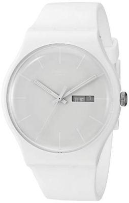 Swatch Unisex SUOW701 Quartz Plastic White Dial Watch