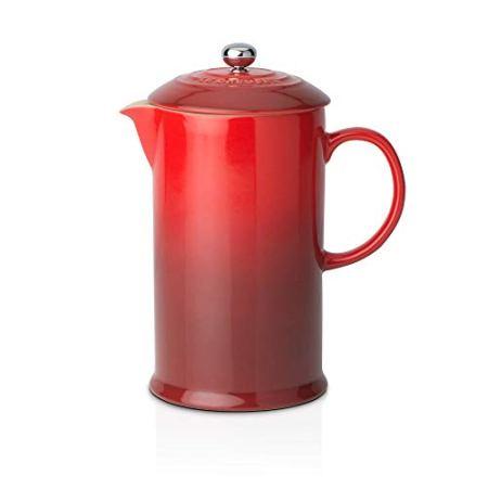 Le Creuset Kaffeebereiter French Press mit Edelstahl-Presseinsatz, 800 ml, Steinzeug