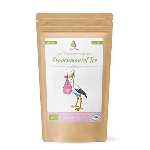 JoviTea® Frauenmanteltee BIO, geeignet vor der Schwangerschaft, wird meist in der 2. Zyklushälfte getrunken, geerntet in Deutschland, 100% natürlich und ohne Zusatz von Zucker - 80g
