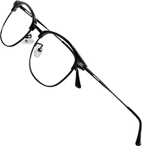ATTCL Unisex blaulichtfilter brille computerbrille zum Blockieren von UV-Kopfschmerz [Verringerung der Augenbelastung] Gaming Brille,(Herren/Damen) 5054 Black-ALL