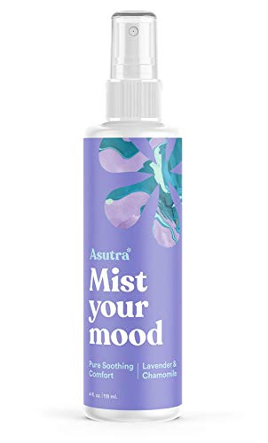 ASUTRA Lavender & Chamomile Essential Oil Blend, Aromatherapy Spray, 4 fl oz | for Face, Body, Rooms, Linens | Helps Relax Mind & Body to Sleep | Pure Soothing Comfort