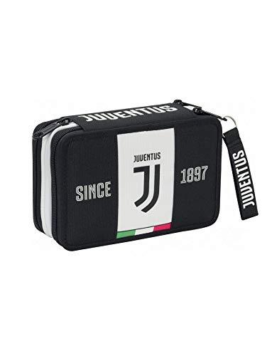 SEVEN SPA F.C. Juventus - Astuccio 3 Zip Completo Di Cancelleria - Collezione Scuola 2019-20 Licenza...