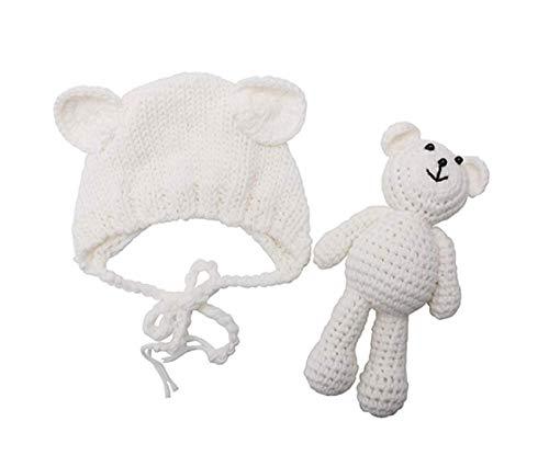 Newborn Baby Crochet Knit Costume Photography Prop Baby Bear Hat...
