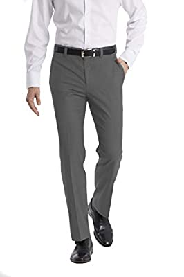 Ready to wear. Arrives with a finished hemmed to avoid extra tailoring. Updated classic fit, flat front, side pocket pant with belt loops and zipper fly. Great for your 9-5 work week, or a night out. Gently tappered, creased leg and comfort, performa...