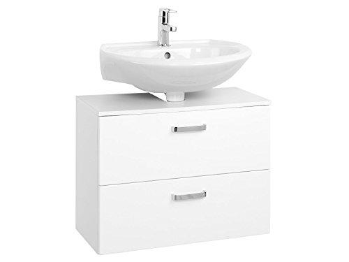 möbelando Unterbeckenschrank Badmöbel Badezimmermöbel Waschbeckenunterschrank Bologna I (70 cm)
