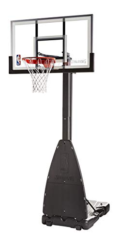 Spalding 54 Inch NBA Glass Backboard Portable Basketball System