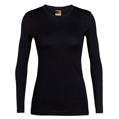 Icebreaker Damen 200 Oasis Snow Longsleeve Langarm Unterhemd Funktionsunterhemd