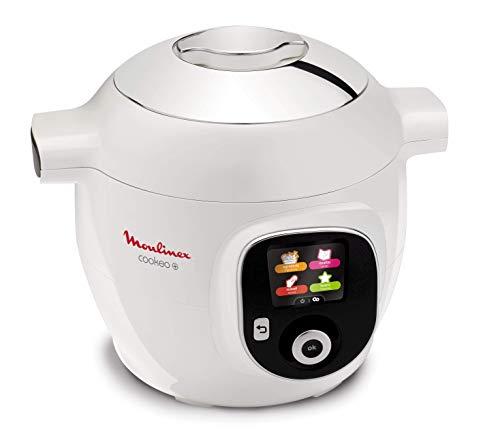 Moulinex Cookeo+, Multi-cottura Intelligente con Pannello di Controllo Intuitivo, 6 Modalità di Cottura, 100 ricette italiane Pre-Programmate, da 2 a 6 persone, Seconda Pentola Antiaderente Inclusa
