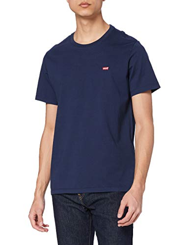 Levi's SS Original HM Tee T-Shirt, Cotton + Patch Dress Blues, L Uomo