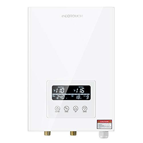 Tankless Water Heater Electric ECOTOUCH 9KW 240V On Demand Water Heater...