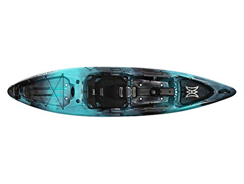 Pescador Pro 12 | Sit on Top Fishing Kayak with Adjustable Lawn Chair Seat | Large Front and Rear...