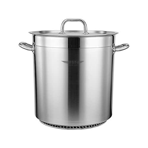Pentole fumanti Benna per minestra, 35L / 50L / 70L Commerciale, Risparmio energetico, Pentola di zuppa grande/Pentola per salamoia, Secchio in acciaio inox, con coperchio, adatto per stufa a gas Re