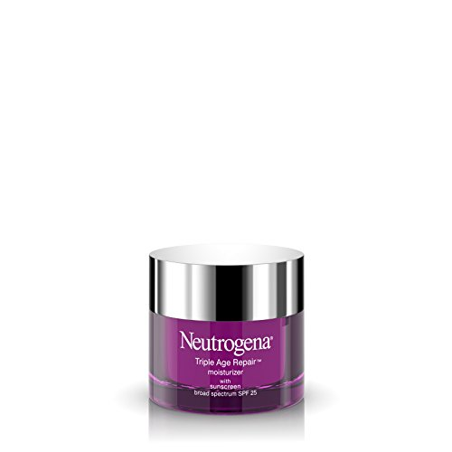 Neutrogena Triple Age Repair Anti-Aging Daily Facial Moisturizer with SPF 25 Sunscreen & Vitamin C, Firming Face & Neck Cream for Dark Spots with Glycerin & Shea Butter, 1.7 oz