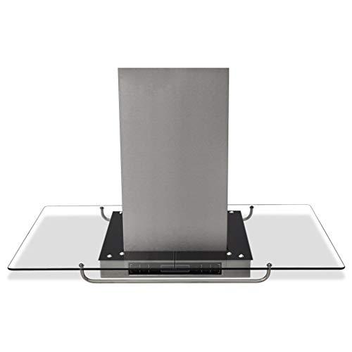 vidaXL Cappa da Cucina Aspirante ad Isola Acciaio Inox Display LCD Filtro Aria