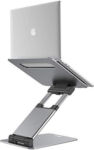 """NULAXY Laptop Stand: Ergonomisch Notebook ständer Verstellbar Höhe von 2.1""""zu 21\"""" Unterstützt bis zu 22 Pfund kompatibel mit MacBook, alle Laptops Tablets 10-17 Grau"""