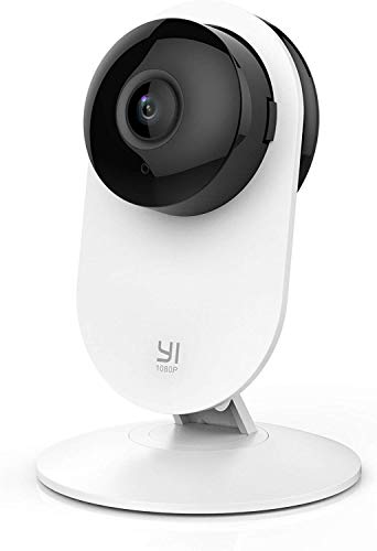 YI 1080p Home Camera, Indoor IP Security Surveillance System with Night Vision for Home / Office / Nanny / Pet Monitor with iOS, Android App, Cloud Service Available - Works with Alexa