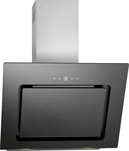 Bomann DU 771.1 G Kopffreie vertikal-Dunstabzugshaube / / 60 cm/LED Display/Touch Control/Umluft-oder Abluftbetrieb / 3 Leistungsstufen / 603 m³/h / schwarz/Edelstahl