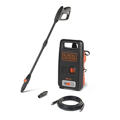 BLACK+DECKER BW13 1300Watt 100 Bar, 390 L/hr Pressure Washer for Car wash and Home use (Red & Black)