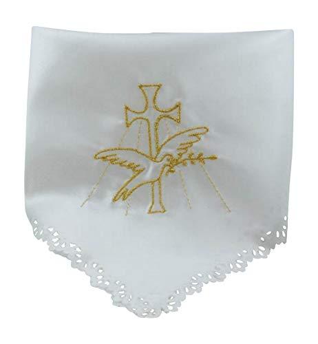 MaMeMi Pañuelo para velas, diseño de bautizo con bordado d