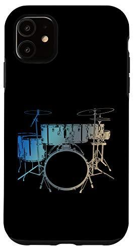 iPhone 11 Musician Drummer Gift Idea Music Drums Case