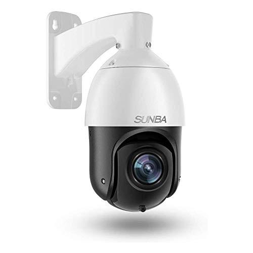 SUNBA IP PoE+ H.265 HEVC Mini telecamera di sorveglianza PTZ 1080p alta velocità, zoom ottico 20X, autofocus, per esterni, visione notturna a 100 m (405-D20X)