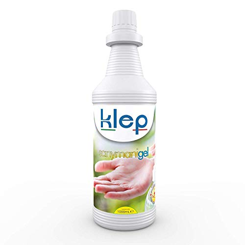 KLEP - Sany Mani Liquido Gel lavamani igienizzante, detergente, sanificante, Antibatterico (GEL, 1 LITRO)