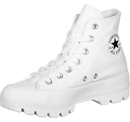 Converse Womens Chuck Taylor All Star Lugged White/Black/White Sneaker - 8.5