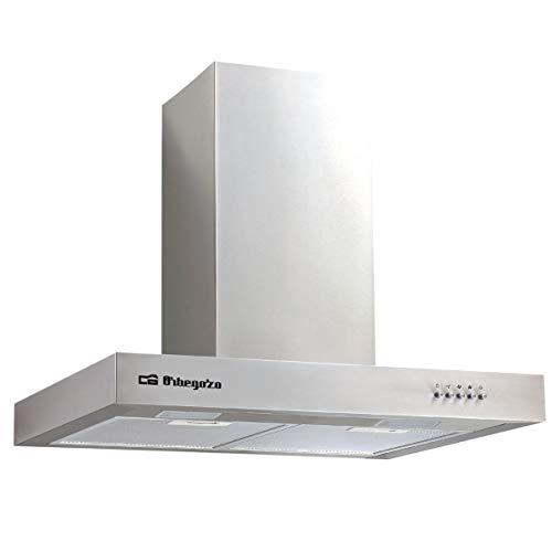Orbegozo DS 56170 B IN - Cappa aspirante 70 cm, in acciaio inox, capacit di estrazione 647,3 m3/h, filtri in alluminio rimovibili, 3 livelli di potenza