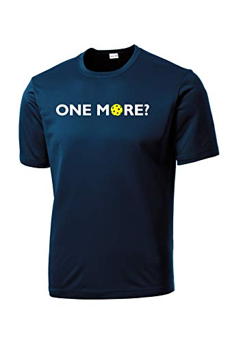 One More? - Mens Pickleball Performance Tee, X-Large Navy