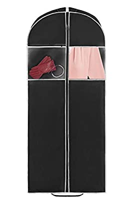 """Practical Design: Garment Bag for suits features a 24''x 55'' size with 4"""" Inch gusset, full length center zipper allows you to easily and securely store your suits and dresses and keep them clean and neat even when you travel. High Quality & Durable..."""