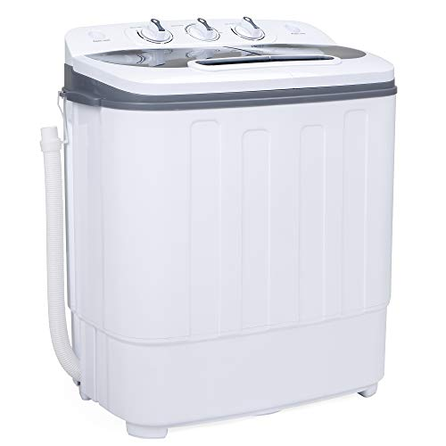 Best Choice Products Portable Compact Twin Tub Laundry...
