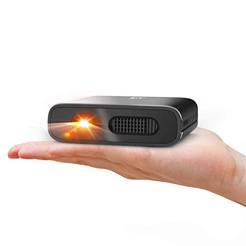Mini Projector - Artlii Portable DLP Projector with 5200mAh Built-in Battery for Travel and Outdoor, Support 3D and Auto Keystone Correction, Compatible with iPhone and Smartphone