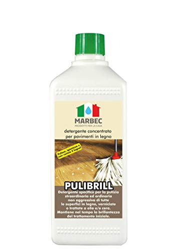 Marbec - PULIBRILL 1LT | Detergente igienizzante concentrato specifico per Pavimenti in Legno e...