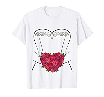 Wedding Dress t shirt idea for the simple and affordable Wedding or to Renew your Vows. Perfect tee shirt for the bride to wear at an Anniversary or the Rehearsal Dinner Ceremony or even Halloween fun. Getting Married in Vegas? A simple local Courtho...