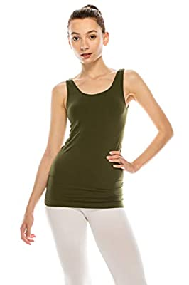 MUST HAVE IN CLOSET - Our Premium Seamless tank top is a daily basic essential and a valuable addition to any wardrobe. Can be worn alone on a warm day, under a sheer blouse at the office, or as a base layer during winter. Perfect for Festivals, Beac...
