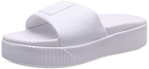 Puma Platform Slide Wns, Zapatos de Playa y Piscina Mujer, Blanco White White, 37 EU