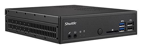 Shuttle Barebone Xpc Slim DH110SE Sockel 1151 Core i7/i5/i3 2X DDR3L 1600 1Xsata/SSD Chip H110 4in1-CR HDMI DP USB2/3 Schwarz