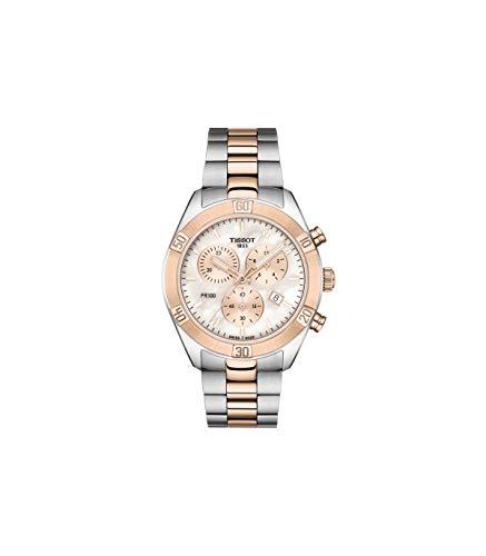 Tissot Damen-Uhren Analog Quarz One Size Edelstahl 87695719