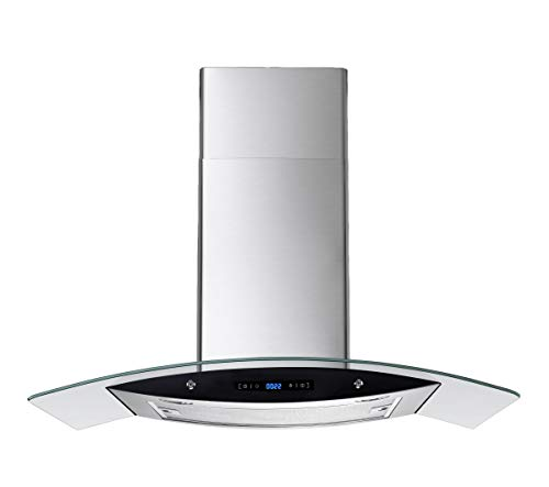 "3. Winflo 30"" Wall Mount Stainless Steel Kitchen Range Hood"