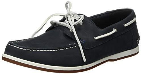 Clarks Pickwell Sail, Zapatos y Bolsos Hombre, Azul (Navy Leather Navy Leather), 41.5 EU
