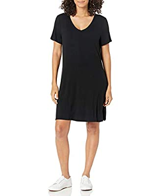 This versatile short-sleeve swing dress features a V-neckline and a feminine drape for easy, everyday styling Made with jersey that beautifully drapes Everyday made better: we listen to customer feedback and fine-tune every detail to ensure quality, ...