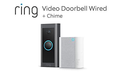 Wir stellen vor: Ring Video Doorbell Wired + Chime von Amazon   HD-Video Türklingel, fortschrittliche Bewegungserfassung, festverdrahtete Installation  Mit 90-tägigem Testzeitraum für Ring Protect