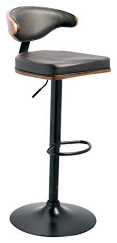 Signature Design by Ashley Bellatier Adjustable Height Bar Stool, Brown/Black