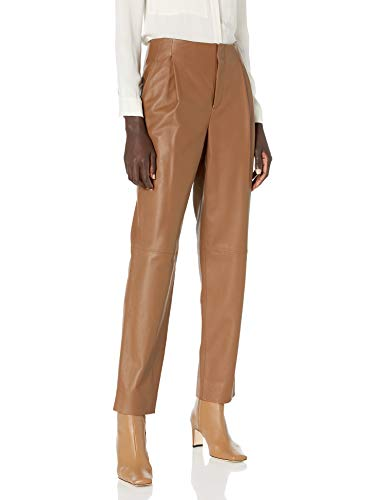 31yWow2hplL Rendered in exceptionally supple leather, our high-waisted pant offers ease of movement at the waist and a tapered leg to flatter the form and cup the shoe. Fits true to size.