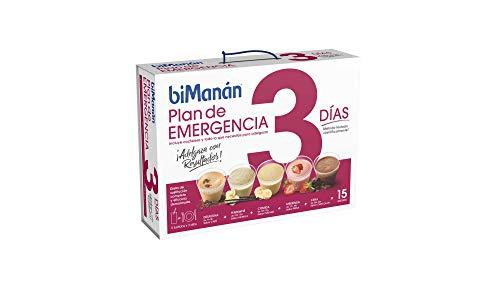 BiManán Plan Emergencia 3 días - Batidos sustitutivos de la dieta completa para el control del peso