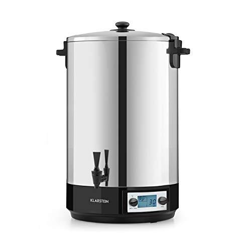 Klarstein KonfiStar 50 Digital - Stérilisateur automatique, Distributeur de boissons chaudes, 50 Litres, 2500 Watt, 30-100 °C, Minuterie, fonction réchauffage, acier inoxydable poli